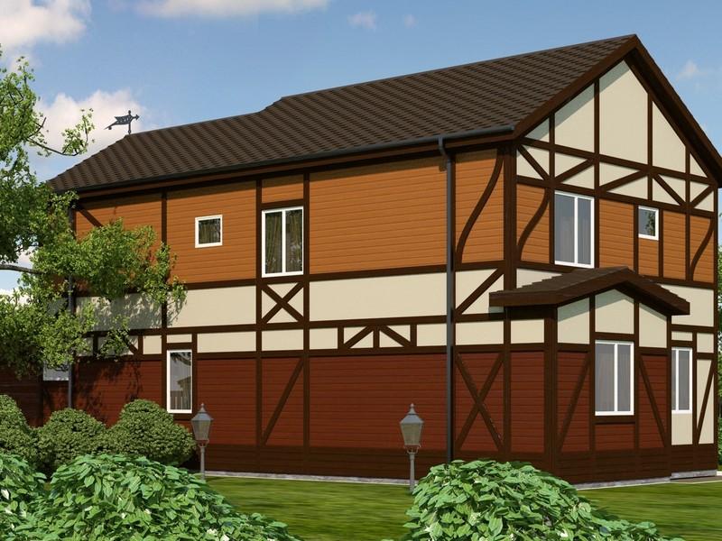 Дом в немецком стиле фахверк своими руками 41